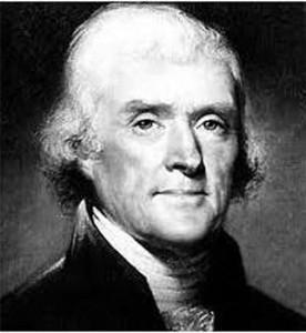 Thomas Jefferson denkt aan 'vingerplant'